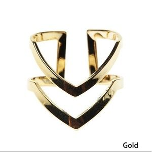 Jewelry - Gold Colored Statement Fashion Ring